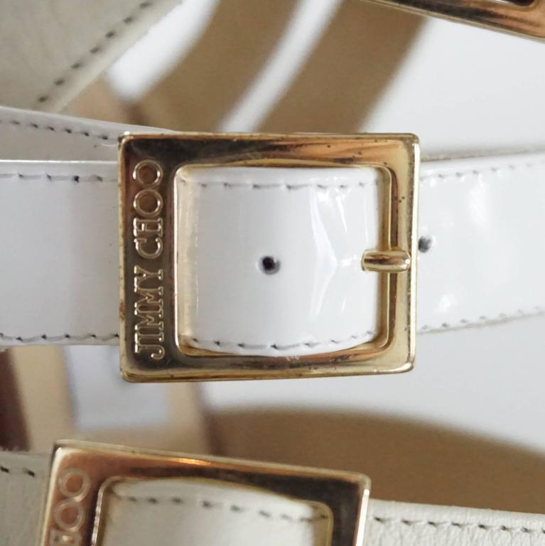 Jimmy Choo Earthtones Strappy Bootie Sandal, Size 38.5 For Sale 4