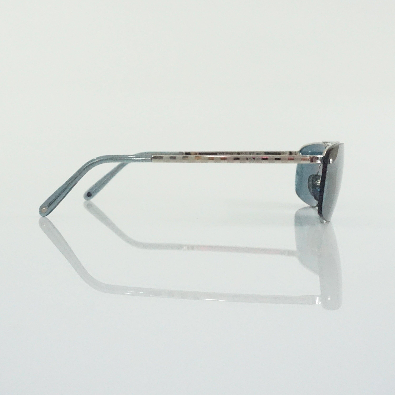 dc7b950c1b729 Louis Vuitton Silver Frameless Rectangular Sunglasses at 1stdibs