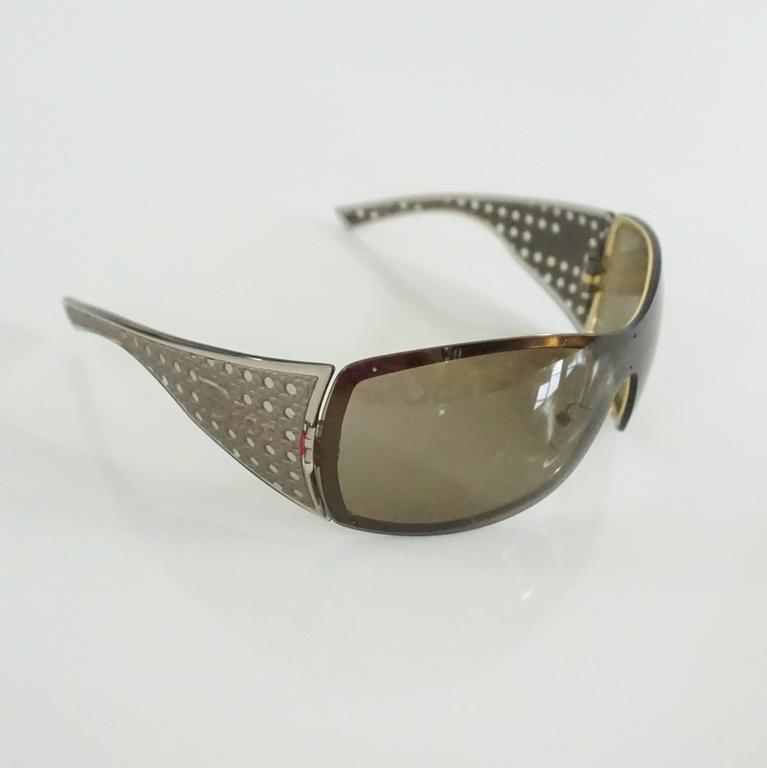 Christian Dior Taupe Sunglasses with Side Cutouts 3