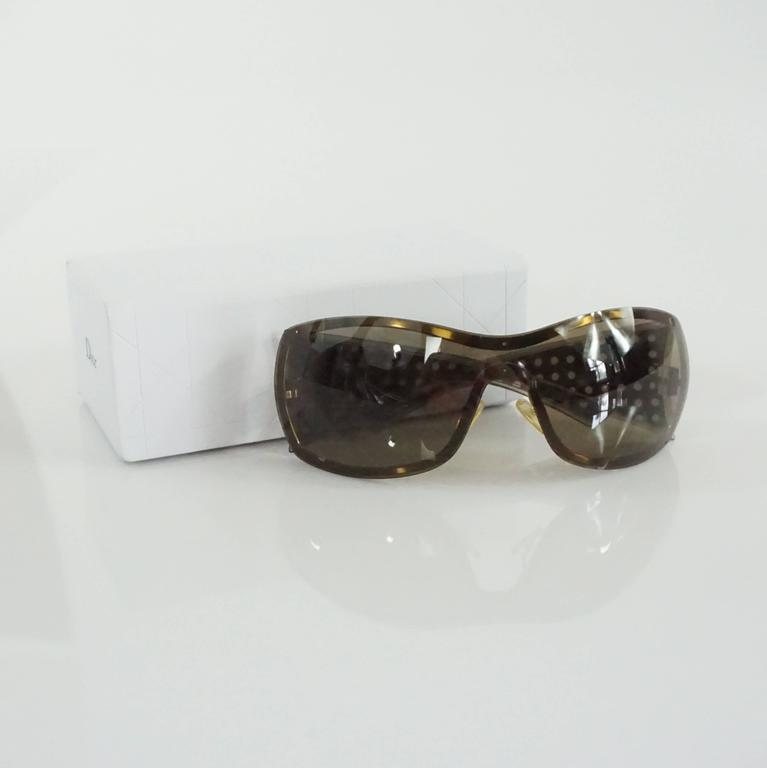 Christian Dior Taupe Sunglasses with Side Cutouts For Sale 1