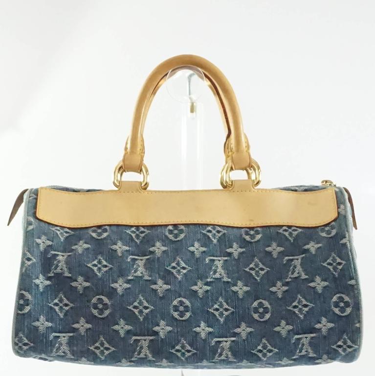 Louis Vuitton Denim Monogram Top Handle Bag - 2005 lIb9Uk