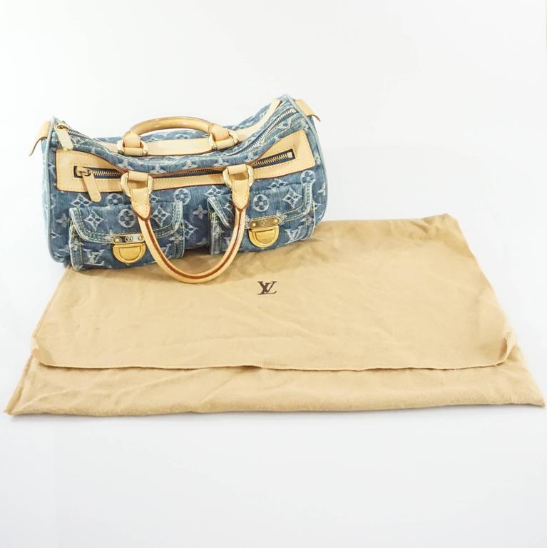 Louis Vuitton Denim Monogram Top Handle Bag - 2005 kcQnUH