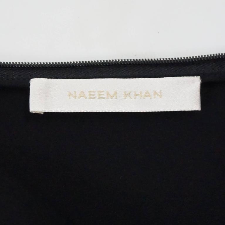 Women's Naeem Khan Black Silk Long Ruffle Skirt with Cutouts - 12 For Sale