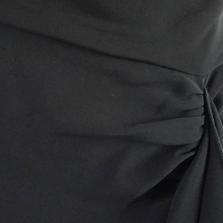 Naeem Khan Black Silk Long Ruffle Skirt with Cutouts - 12 For Sale 1
