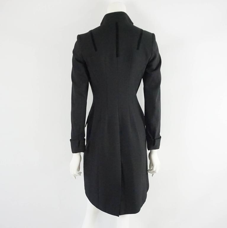 Dolce Gabbana Black Tail Coat 40 In Good Condition For Palm Beach