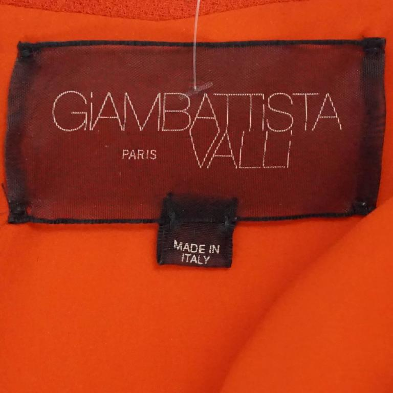 Giambattista Valli Burnt Orange Wool Dress - 44 In Good Condition For Sale In Palm Beach, FL