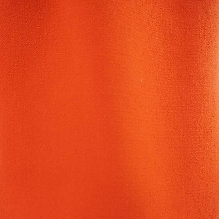 Giambattista Valli Burnt Orange Wool Dress - 44 5
