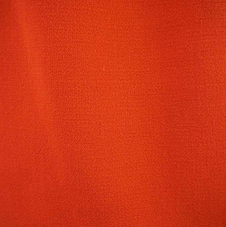 Giambattista Valli Burnt Orange Wool Dress - 44 For Sale 1