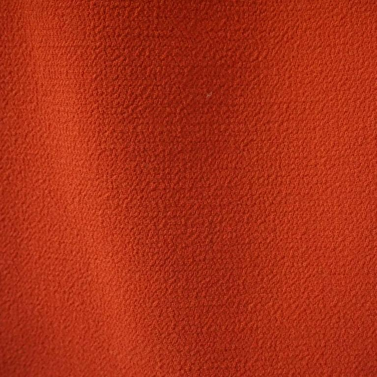 Giambattista Valli Burnt Orange Wool Dress - 44 For Sale 2
