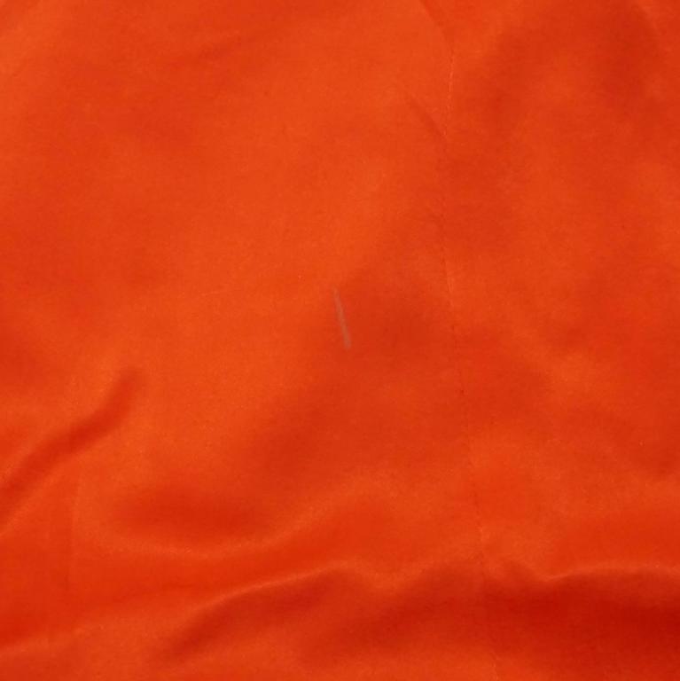 Lanvin Orange Silk Halter Top with Fringe - 38 For Sale 1