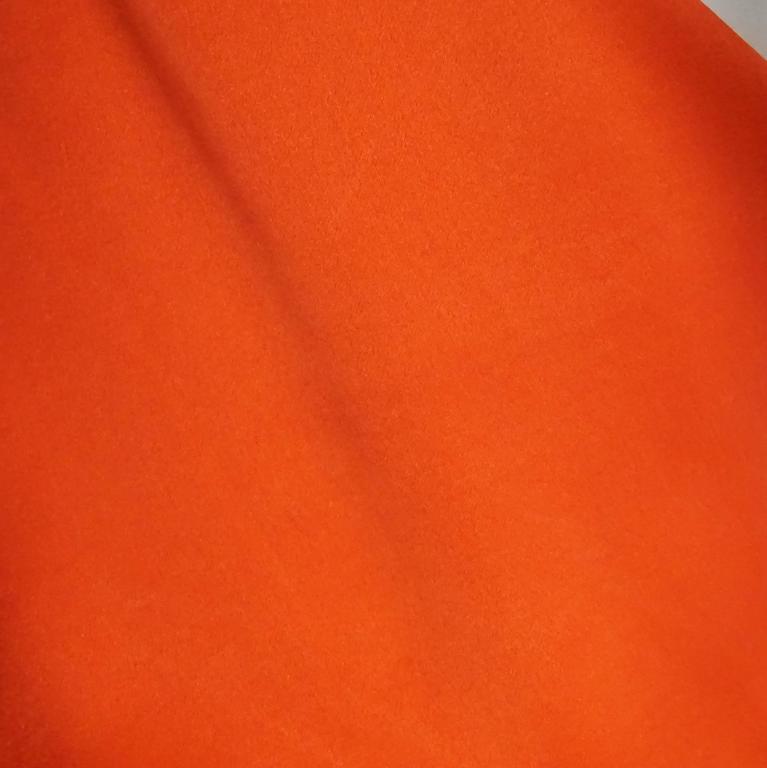 Lanvin Orange Silk Halter Top with Fringe - 38 7