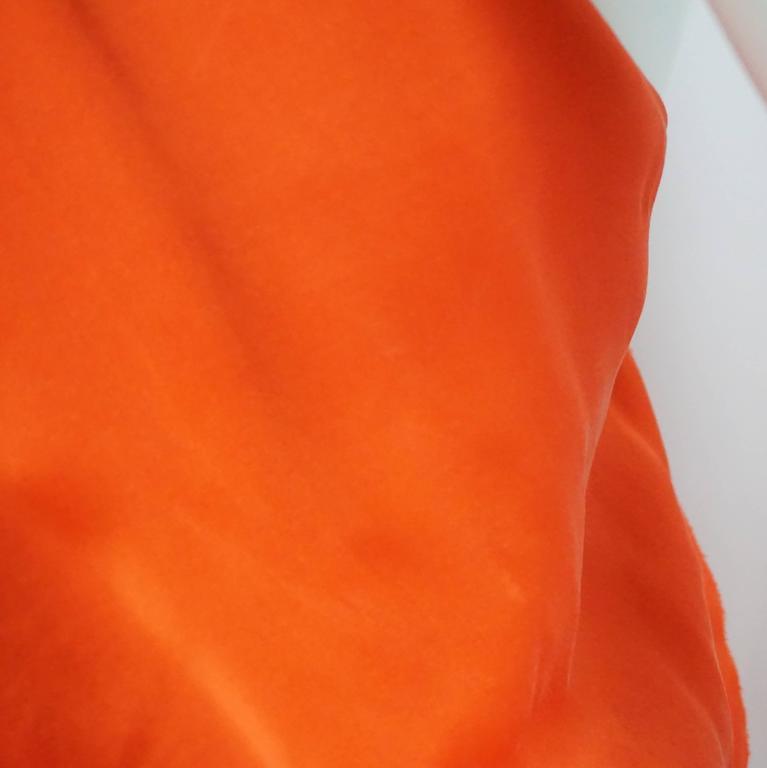 Lanvin Orange Silk Halter Top with Fringe - 38 8