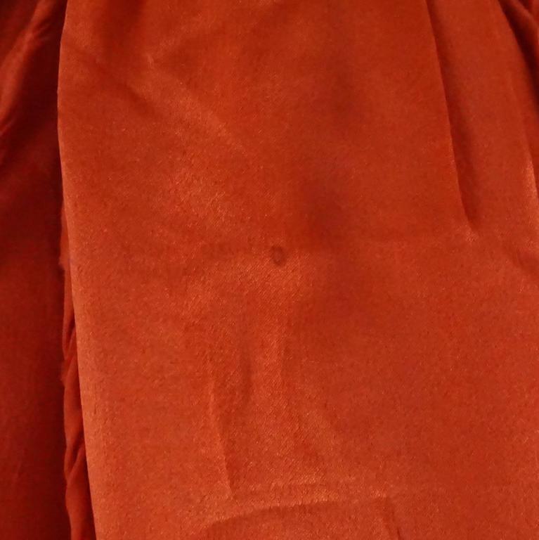 Lanvin Orange Silk Halter Top with Fringe - 38 10