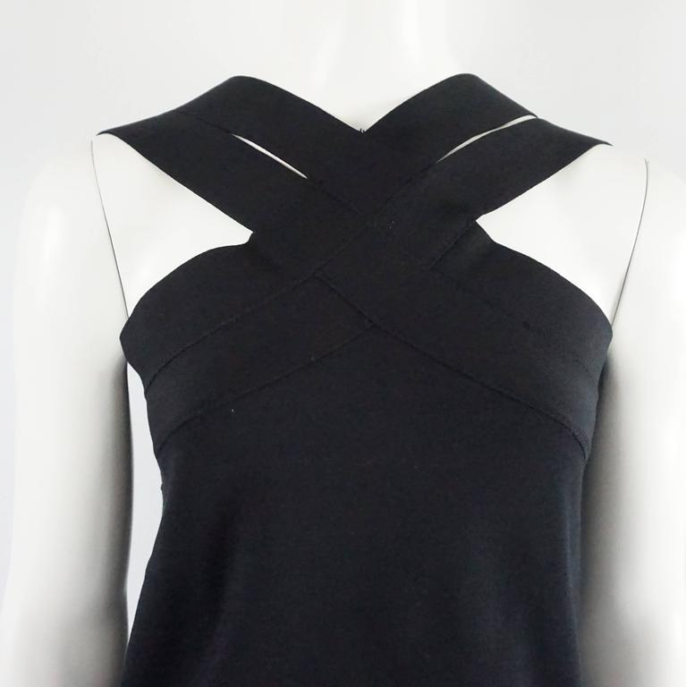 Women's Oscar de la Renta Black Knit Top - L - NWT For Sale