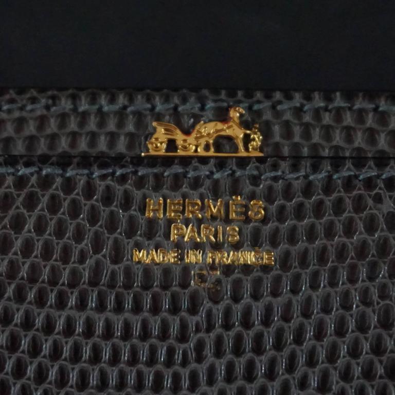 Hermes Olive Lizard Sequana Handbag Ghw 1970 S For