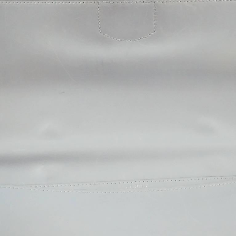 Hermes Ciel Grey Kidskin 35cm Sac a Depeche -  SHW - 2001 For Sale 5