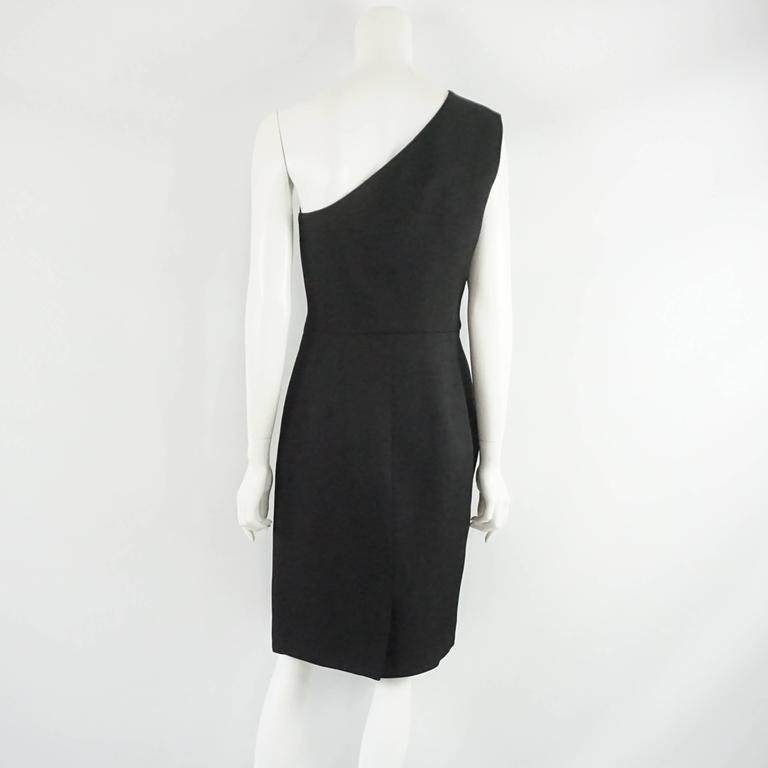 Martin Grant Black One Shoulder Dress - L In Excellent Condition For Sale In Palm Beach, FL