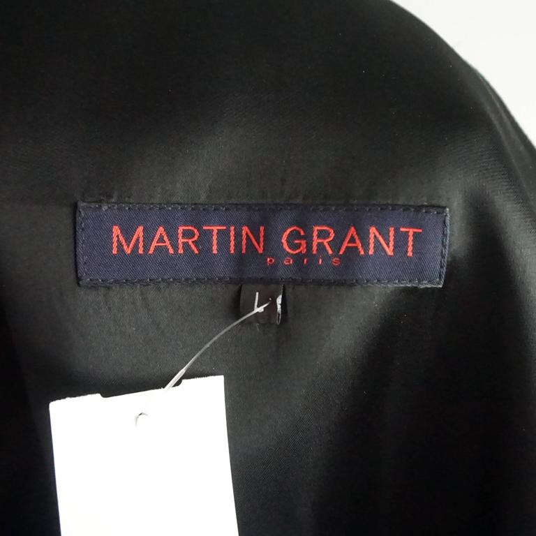 Women's Martin Grant Black One Shoulder Dress - L For Sale