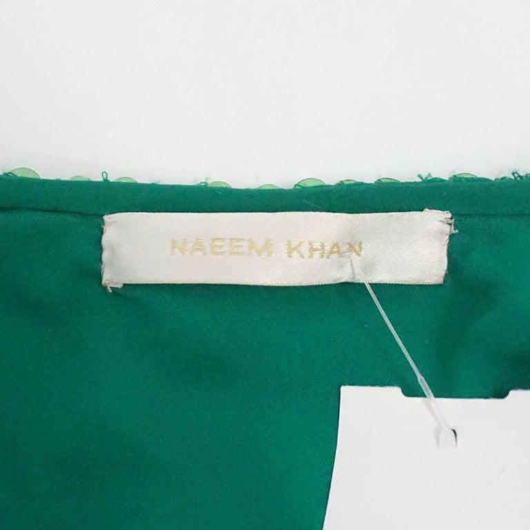 Women's Naeem Khan Green Sequin One Shoulder Cocktail Dress - S For Sale