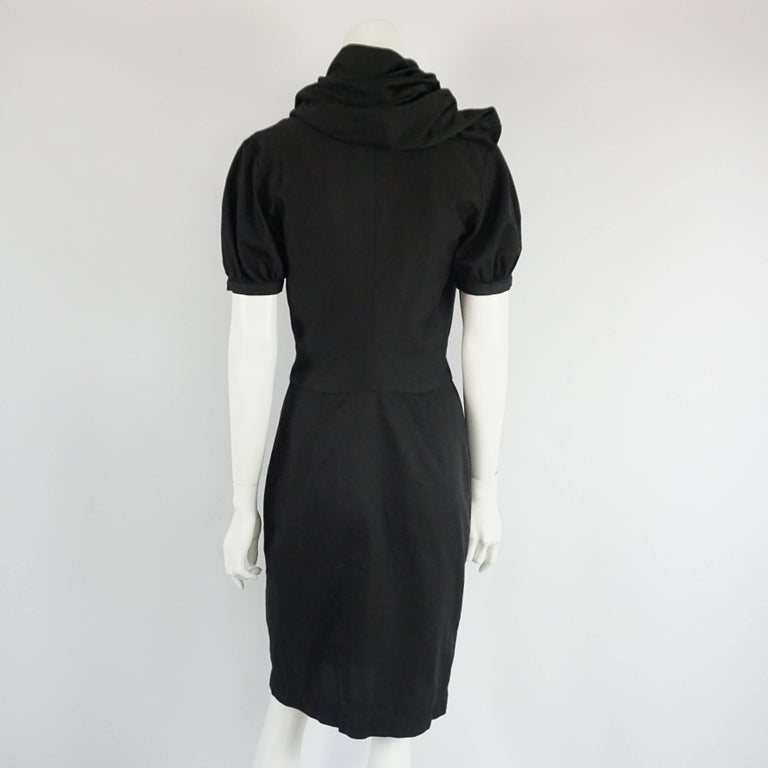 Vivienne Westwood Black Button Down Cotton Dress - 42 In Excellent Condition For Sale In Palm Beach, FL