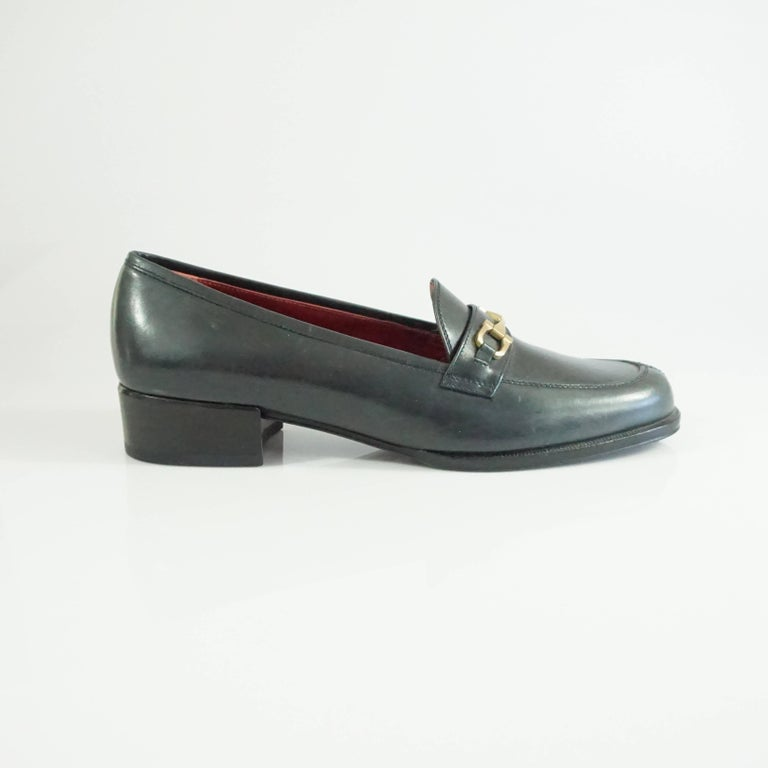 Salvatore Ferragamo Black Leather Loafers - 6.5 B 2