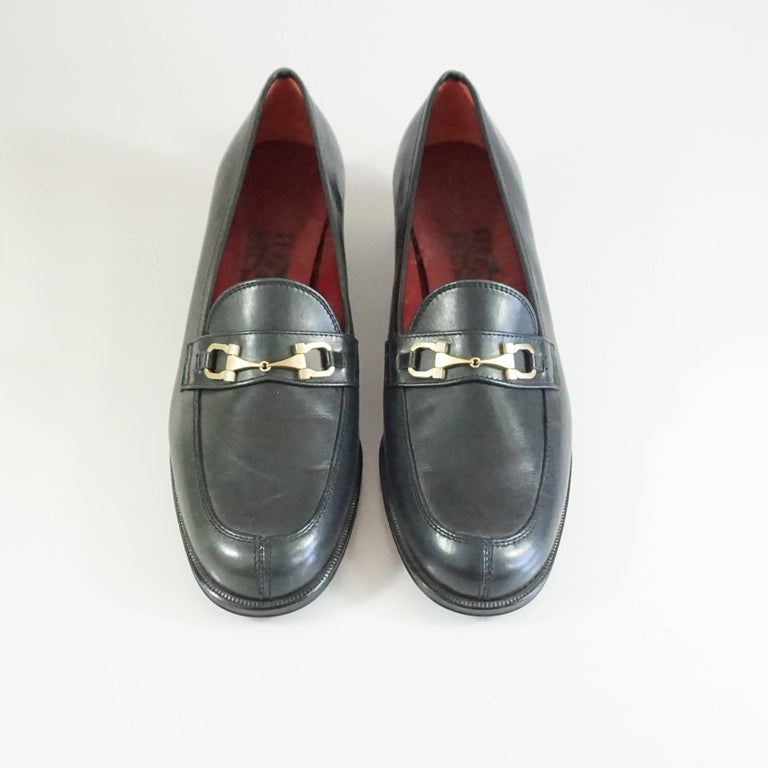 Salvatore Ferragamo Black Leather Loafers - 6.5 B 3