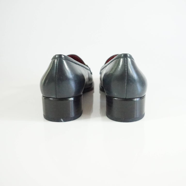 Salvatore Ferragamo Black Leather Loafers - 6.5 B 4