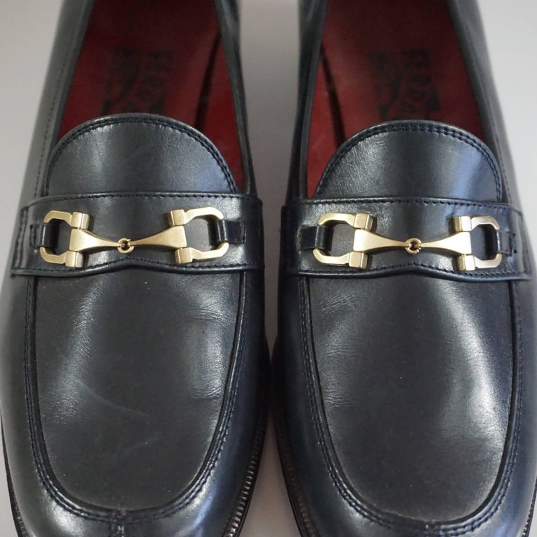 Salvatore Ferragamo Black Leather Loafers - 6.5 B 6