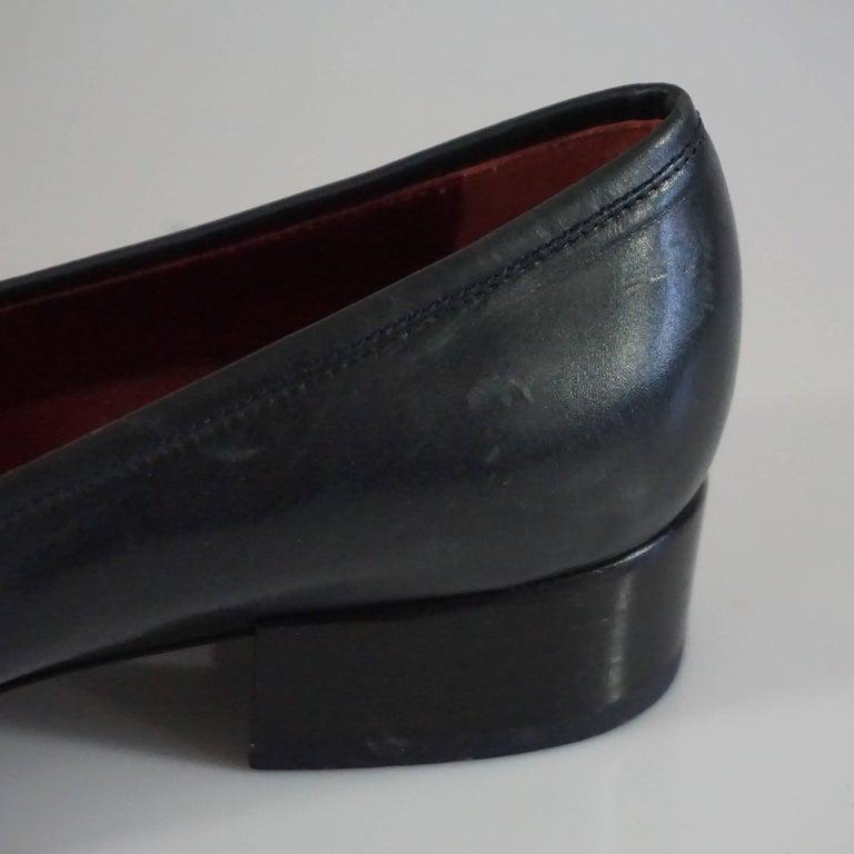 Salvatore Ferragamo Black Leather Loafers - 6.5 B 8