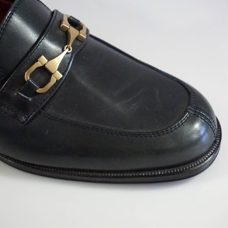 Salvatore Ferragamo Black Leather Loafers - 6.5 B 9