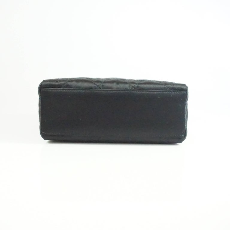 Christian Dior Black Satin Mini Strass Lady Dior Bag with Rhinestones 4