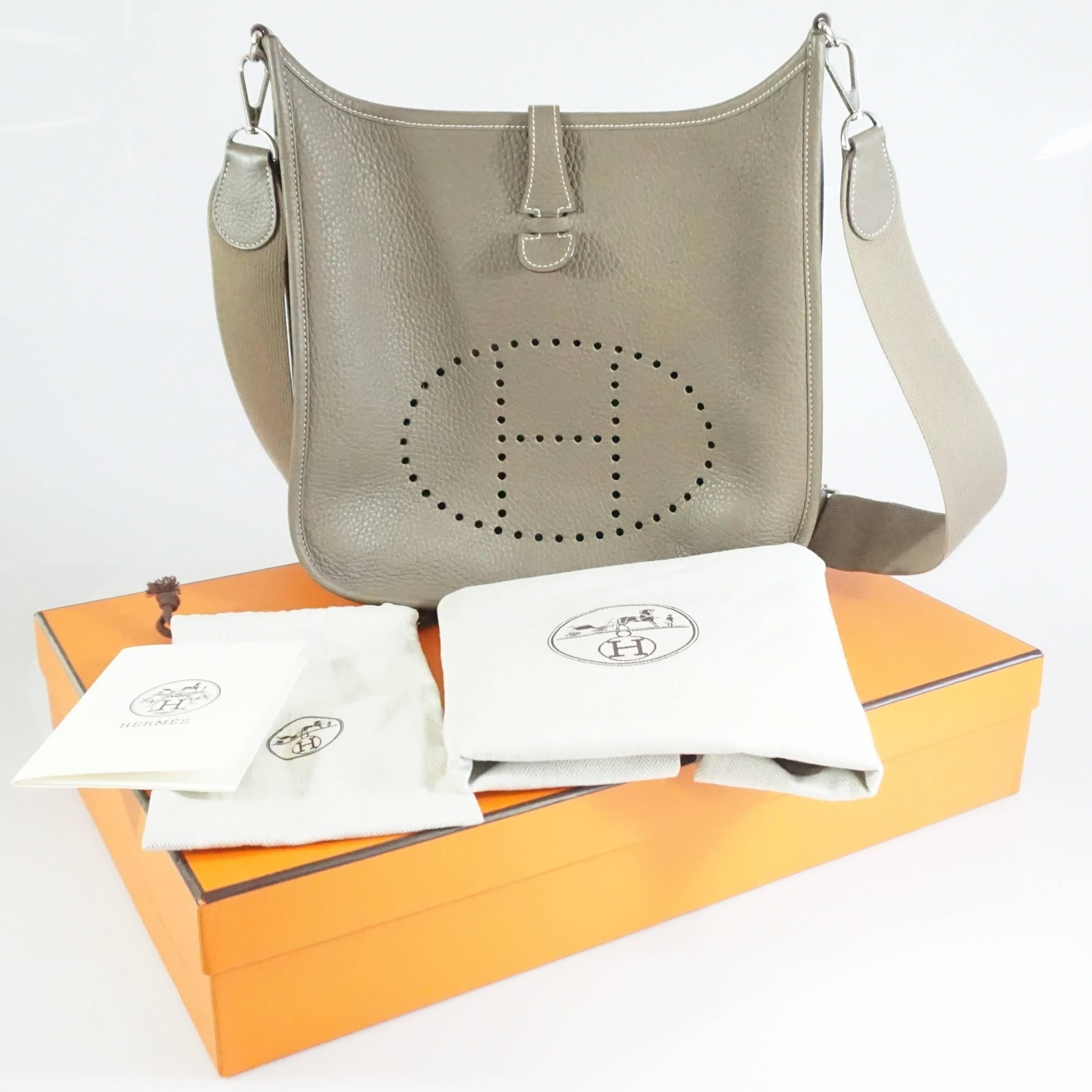 6df968cae7bc ... new style hermes etoupe togo evelyne iii pm bag 2013 for sale 2 3328c  d7079