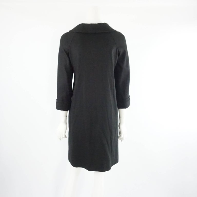 Gucci Black Light Wool 3/4 Coat Dress - 42 - NWT In New Condition For Sale In Palm Beach, FL