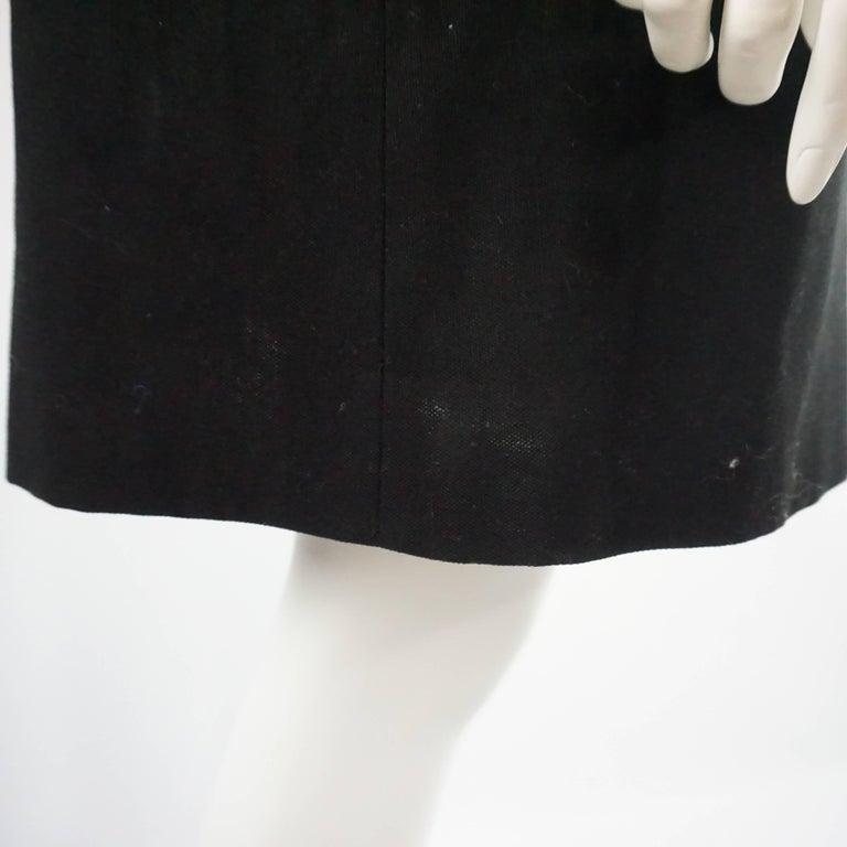 Gucci Black Light Wool 3/4 Coat Dress - 42 - NWT For Sale 2