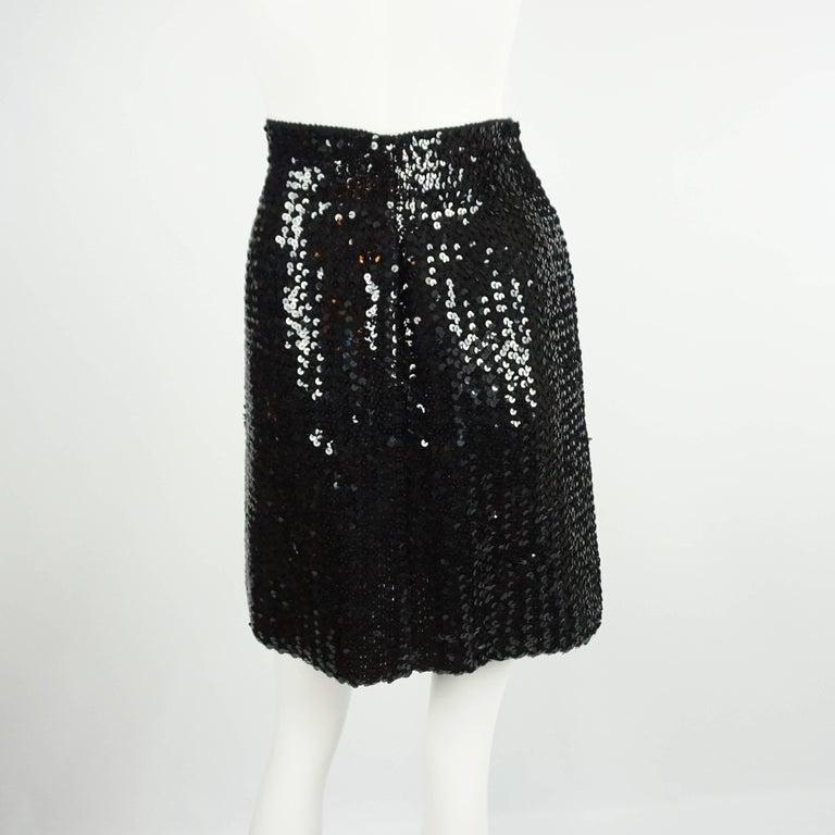 Palm Beach Chic Circa 1990s: Todd Oldham Black Sequin Knit Skirt