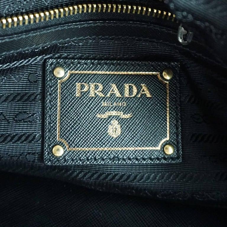 Prada Olive and Black Cut Velvet Bag  For Sale 1