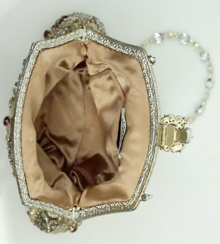 Women's or Men's Larisa Barrera Gold and Metallic Jeweled Evening Bag For Sale