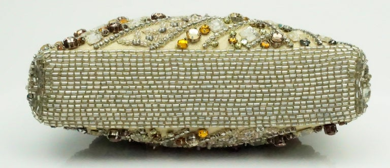 Larisa Barrera Gold and Metallic Jeweled Evening Bag For Sale 2