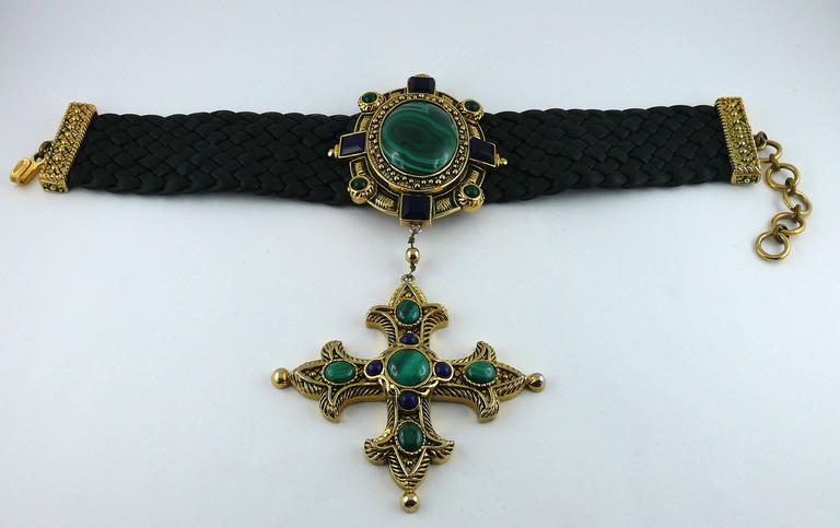 Christian Dior Elizabethean Inspired Choker Necklace Rare In Good Condition For Sale In French Riviera, Cote d'Azur