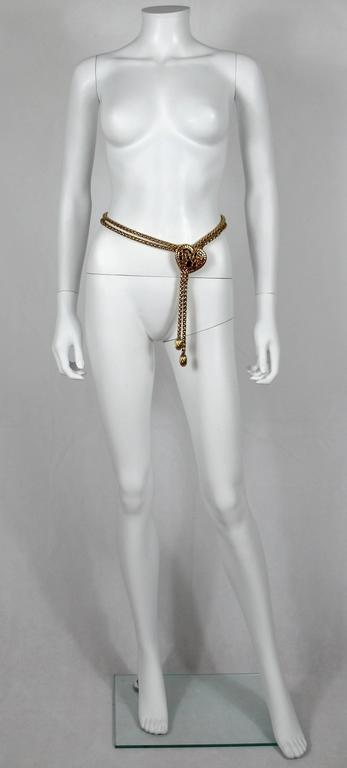 Yves Saint Laurent YSL Vintage Rare Jewelled Heart Chain Belt and Necklace 6