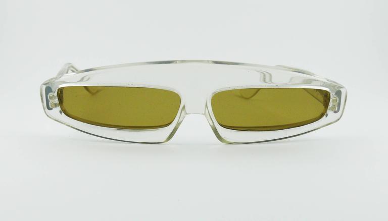 Thierry Mugler Vintage Rare Iconic Cosmos Sunglasses Vogue Paris 1979 2
