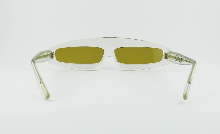 Thierry Mugler Vintage Rare Iconic Cosmos Sunglasses Vogue Paris 1979 4