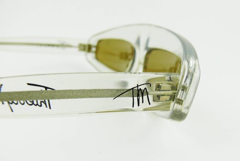 Thierry Mugler Vintage Rare Iconic Cosmos Sunglasses Vogue Paris 1979 7