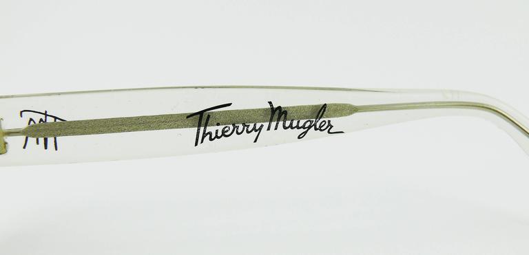 Thierry Mugler Vintage Rare Iconic Cosmos Sunglasses Vogue Paris 1979 8