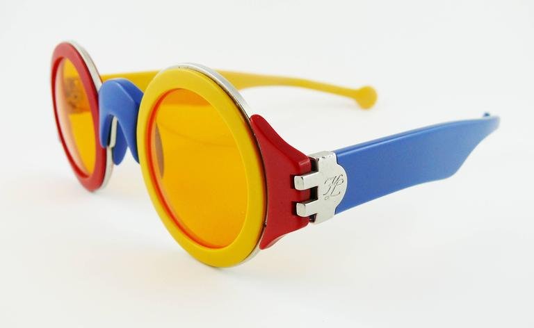 Karl Lagerfeld Vintage Rare 1985 Colorful Sunglasses Limited Edition 6