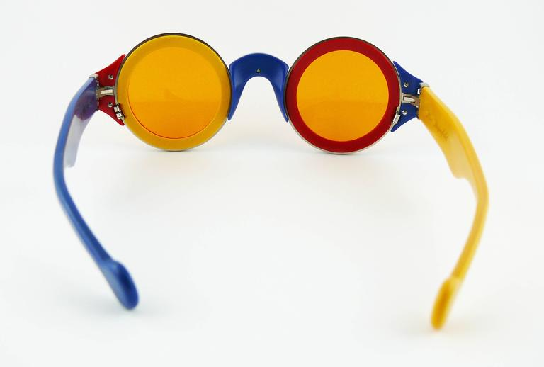 Karl Lagerfeld Vintage Rare 1985 Colorful Sunglasses Limited Edition 5