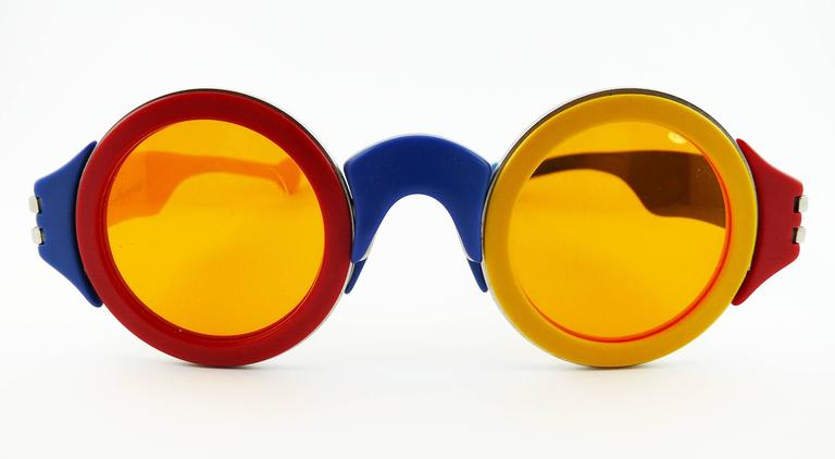 Karl Lagerfeld Vintage Rare 1985 Colorful Sunglasses Limited Edition 3