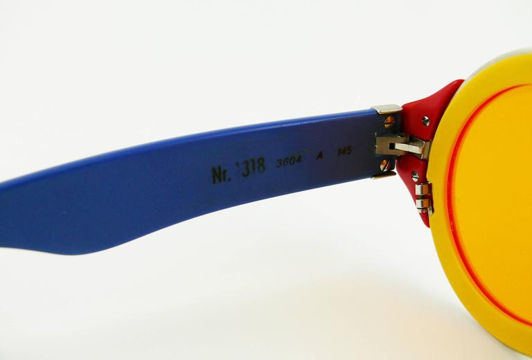 Karl Lagerfeld Vintage Rare 1985 Colorful Sunglasses Limited Edition 8