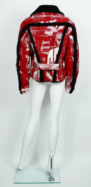 Jean Paul Gaultier Vintage Punk Printed Denim Jacket 6