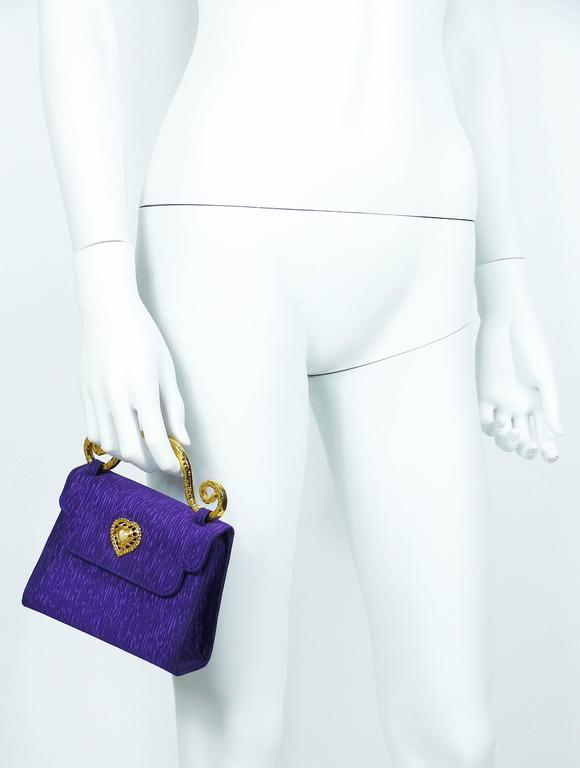 Edouard Rambaud Vintage Purple Evening Bag   4